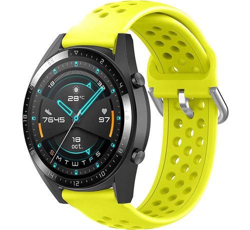 Huawei Watch GT siliconen bandje met gaatjes (geel)