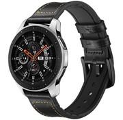 Samsung Galaxy Watch leren bandje (zwart)