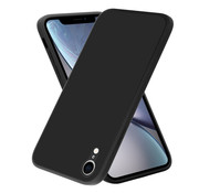 ShieldCase® iPhone Xr vierkante silicone case (zwart)