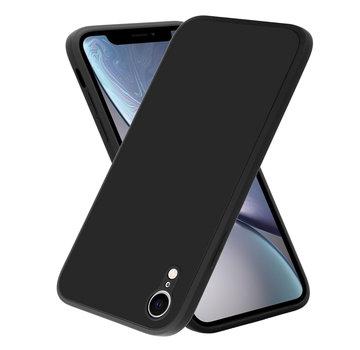 ShieldCase® iPhone Xr vierkante silicone case (zwart)