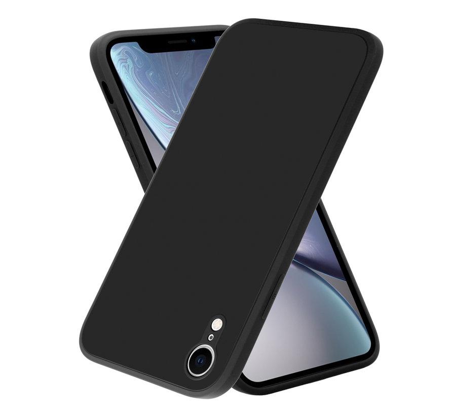 ShieldCase iPhone Xr vierkante silicone case (zwart)