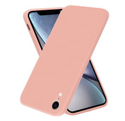 ShieldCase® iPhone Xr vierkante silicone case (roze)