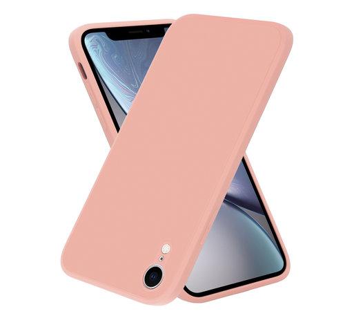 ShieldCase® ShieldCase iPhone Xr vierkante silicone case (roze)