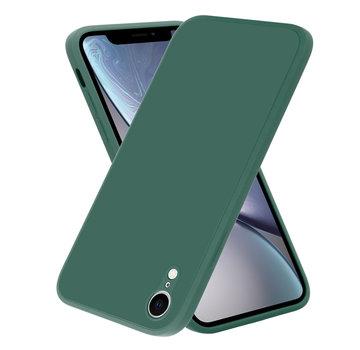 ShieldCase® iPhone Xr vierkante silicone case (donkergroen)