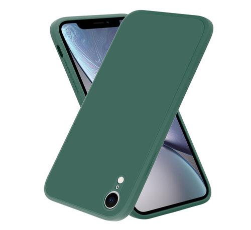 ShieldCase® ShieldCase iPhone Xr vierkante silicone case (donkergroen)