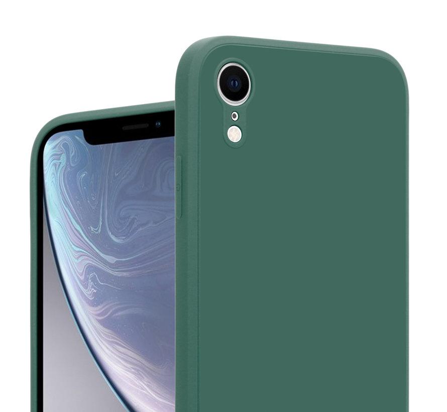 ShieldCase iPhone Xr vierkante silicone case (donkergroen)