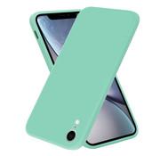 ShieldCase® iPhone Xr vierkante silicone case (aqua)