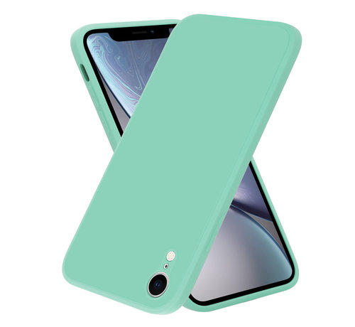 ShieldCase® ShieldCase iPhone Xr vierkante silicone case (aqua)