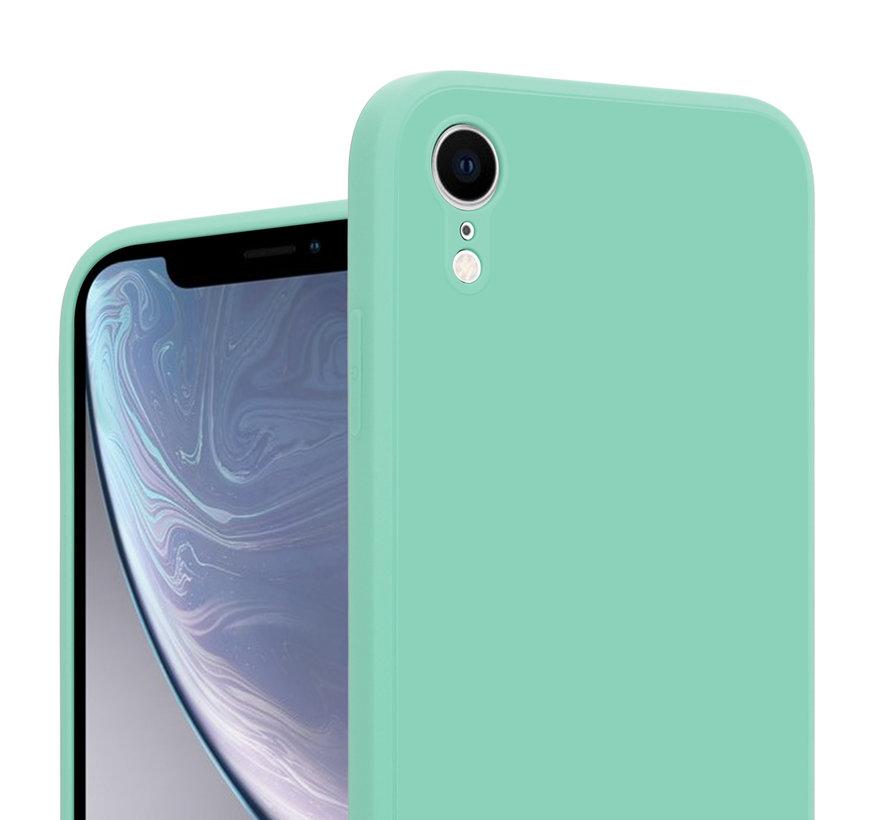 ShieldCase iPhone Xr vierkante silicone case (aqua)