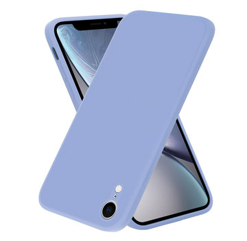 ShieldCase® iPhone Xr vierkante silicone case (paars)