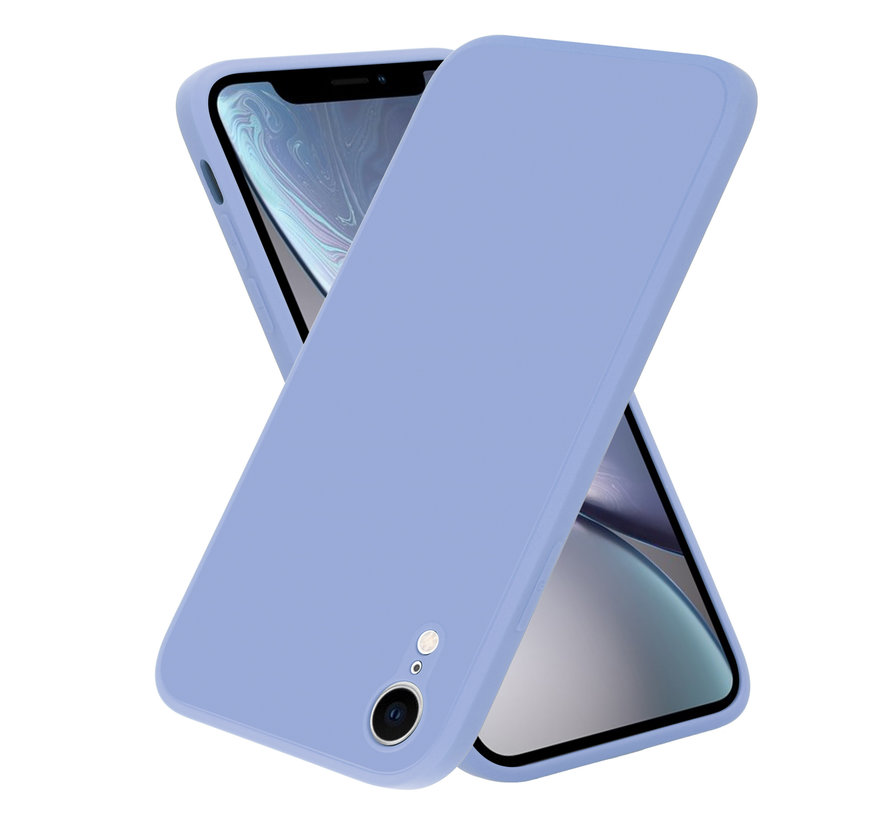 ShieldCase iPhone Xr vierkante silicone case (paars)