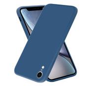 ShieldCase® iPhone Xr vierkante silicone case (blauw)