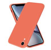 ShieldCase® iPhone Xr vierkante silicone case (oranje)