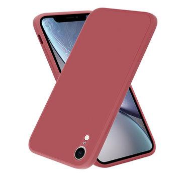 ShieldCase® iPhone Xr vierkante silicone case (donkerrood)