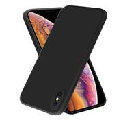 ShieldCase® iPhone X / Xs vierkante silicone case (zwart)