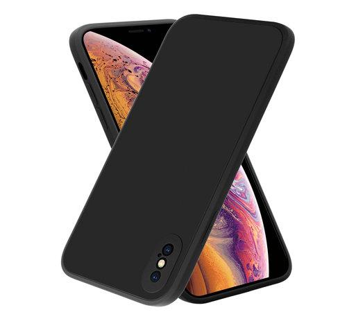ShieldCase® ShieldCase iPhone X / Xs vierkante silicone case (zwart)