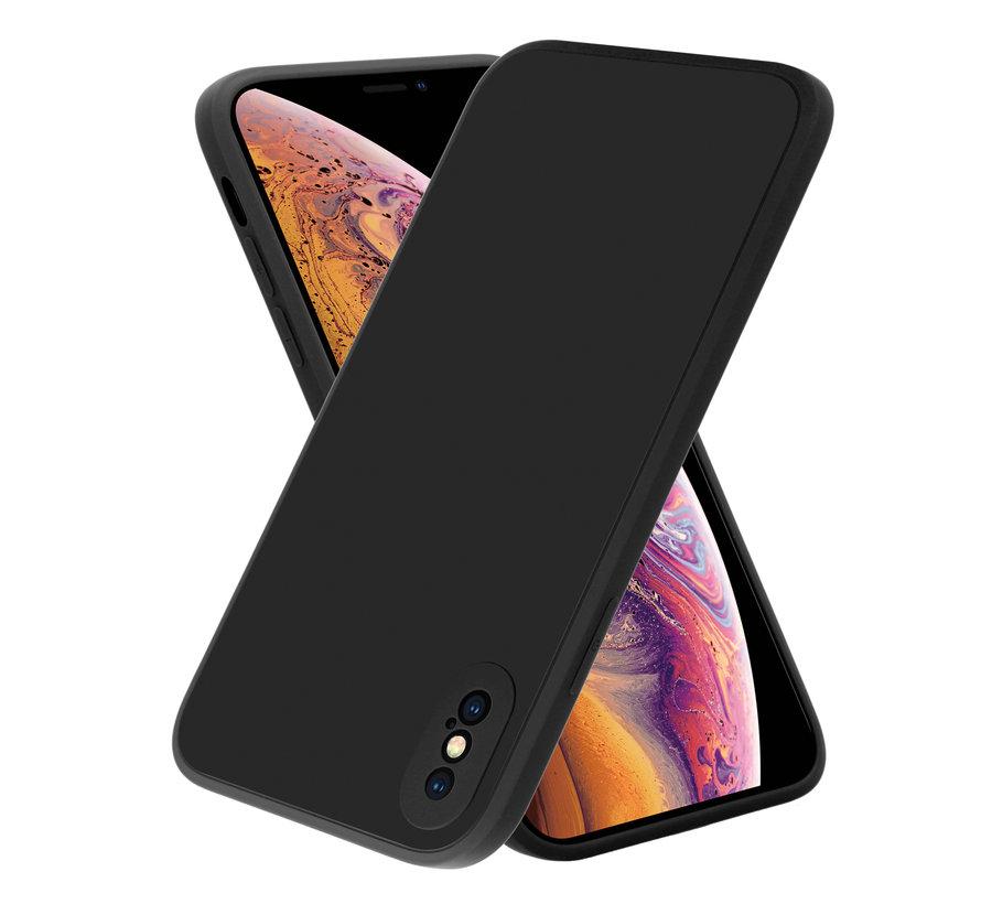 ShieldCase iPhone X / Xs vierkante silicone case (zwart)