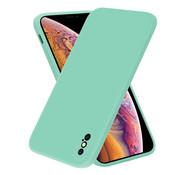 ShieldCase® iPhone X / Xs vierkante silicone case (aqua)
