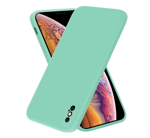ShieldCase® ShieldCase iPhone X / Xs vierkante silicone case (aqua)