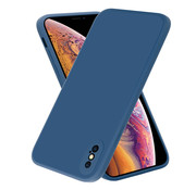 ShieldCase® iPhone X / Xs vierkante silicone case (blauw)
