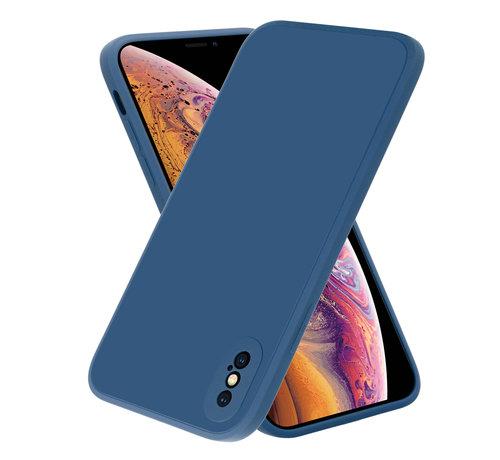 ShieldCase® ShieldCase iPhone X / Xs vierkante silicone case (blauw)