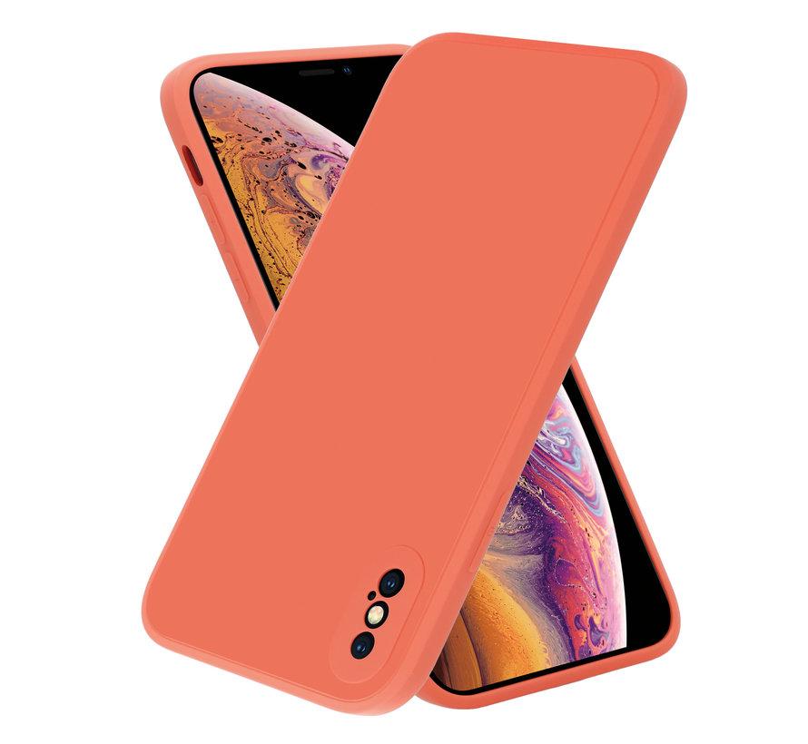 ShieldCase iPhone X / Xs vierkante silicone case (oranje)