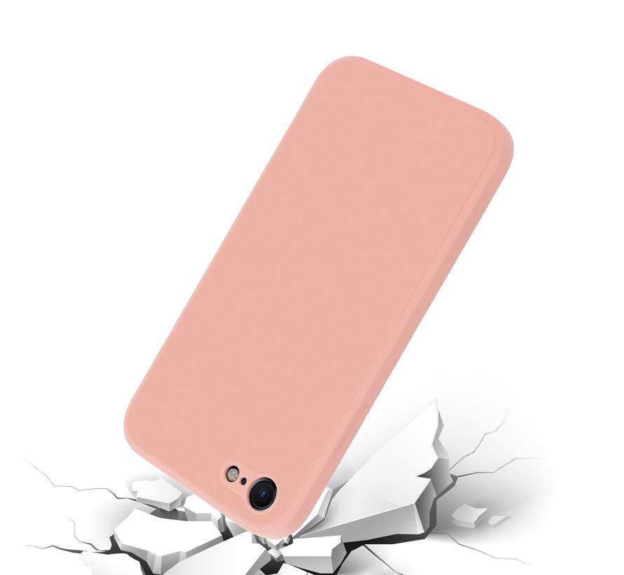 ShieldCase iPhone SE 2020 vierkante silicone case (roze)