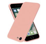 ShieldCase® iPhone SE 2020 vierkante silicone case (roze)