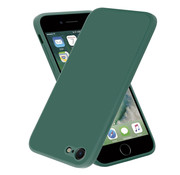 ShieldCase® iPhone SE 2020 vierkante silicone case (donkergroen)