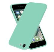 ShieldCase® iPhone SE 2020 vierkante silicone case (aqua)