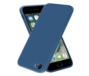 ShieldCase® iPhone SE 2020 vierkante silicone case (blauw)