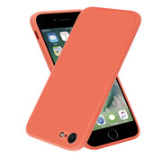 ShieldCase® iPhone SE 2020 vierkante silicone case (oranje)