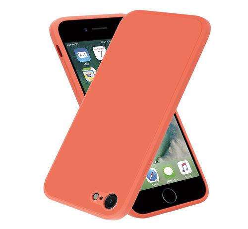 ShieldCase® ShieldCase iPhone SE 2020 vierkante silicone case (oranje)