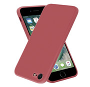 ShieldCase® iPhone SE 2020 vierkante silicone case (donkerrood)