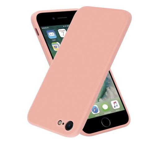 ShieldCase® ShieldCase iPhone 7 / 8 vierkante silicone case (roze)