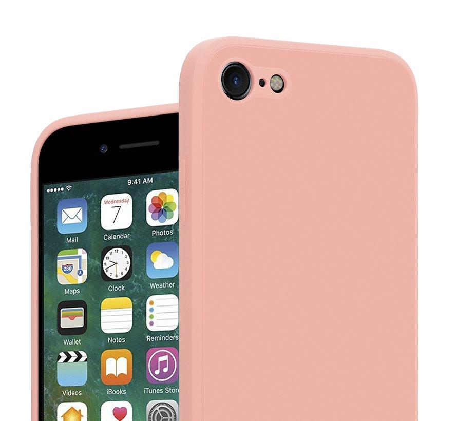 ShieldCase iPhone 7 / 8 vierkante silicone case (roze)