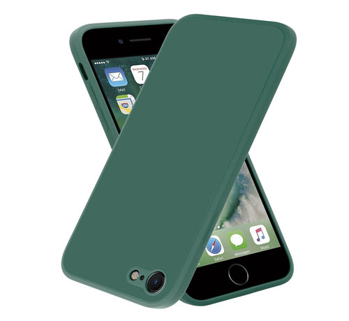 ShieldCase® ShieldCase iPhone 7 / 8 vierkante silicone case (donkergroen)