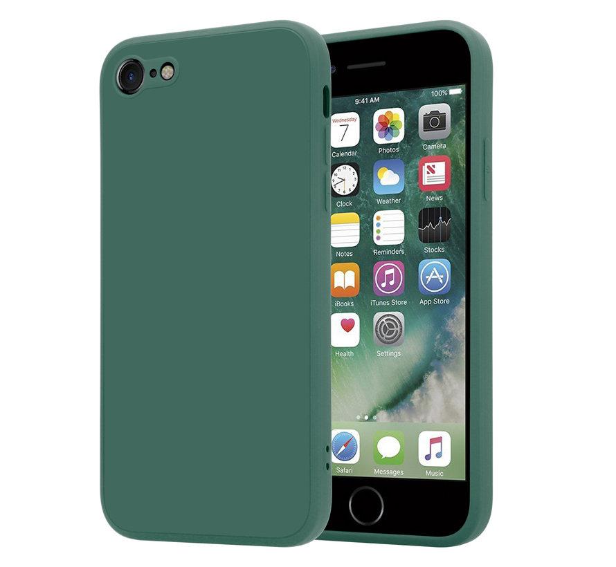 ShieldCase iPhone 7 / 8 vierkante silicone case (donkergroen)