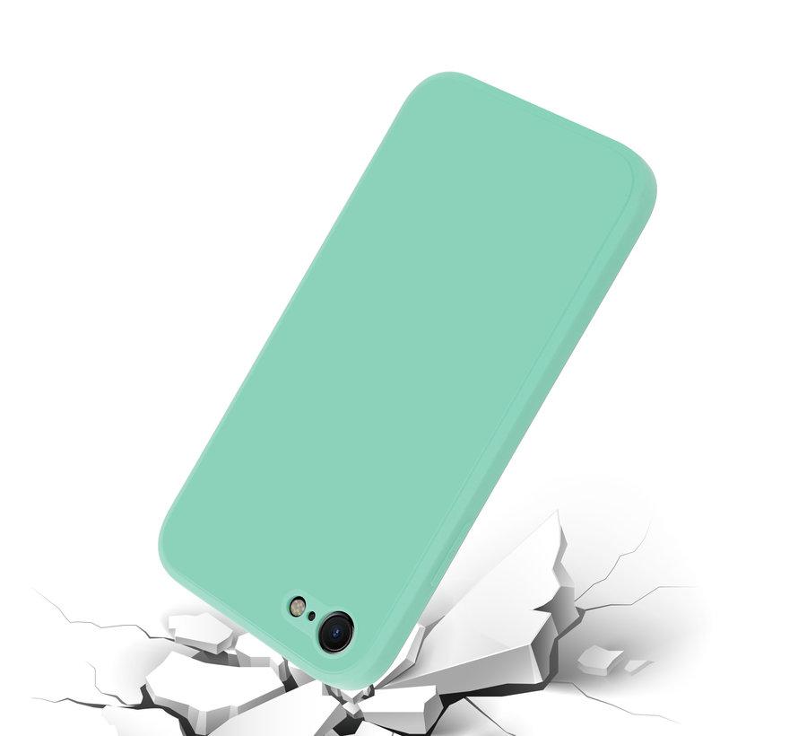 ShieldCase iPhone 7 / 8 vierkante silicone case (aqua)