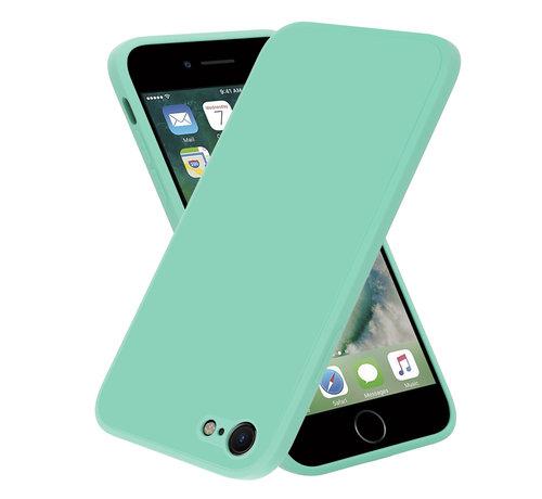 ShieldCase® ShieldCase iPhone 7 / 8 vierkante silicone case (aqua)