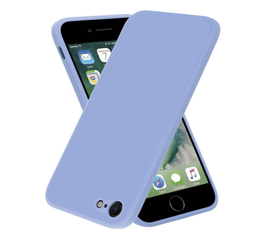 ShieldCase iPhone 7 / 8 vierkante silicone case (lavendel)