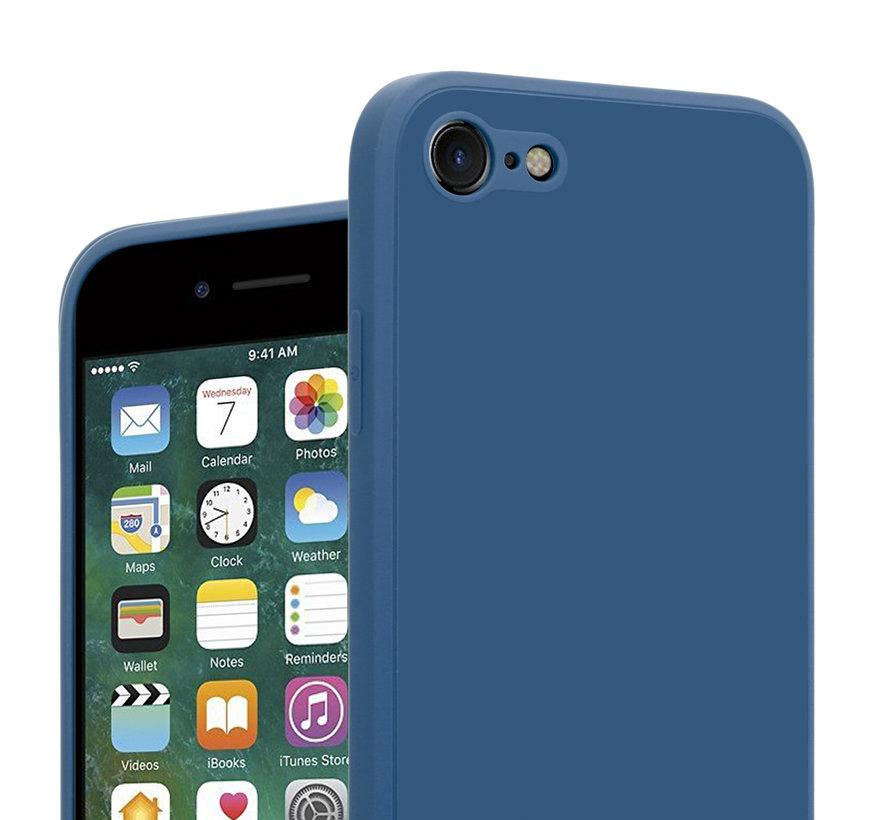 ShieldCase iPhone 7 / 8 vierkante silicone case (blauw)