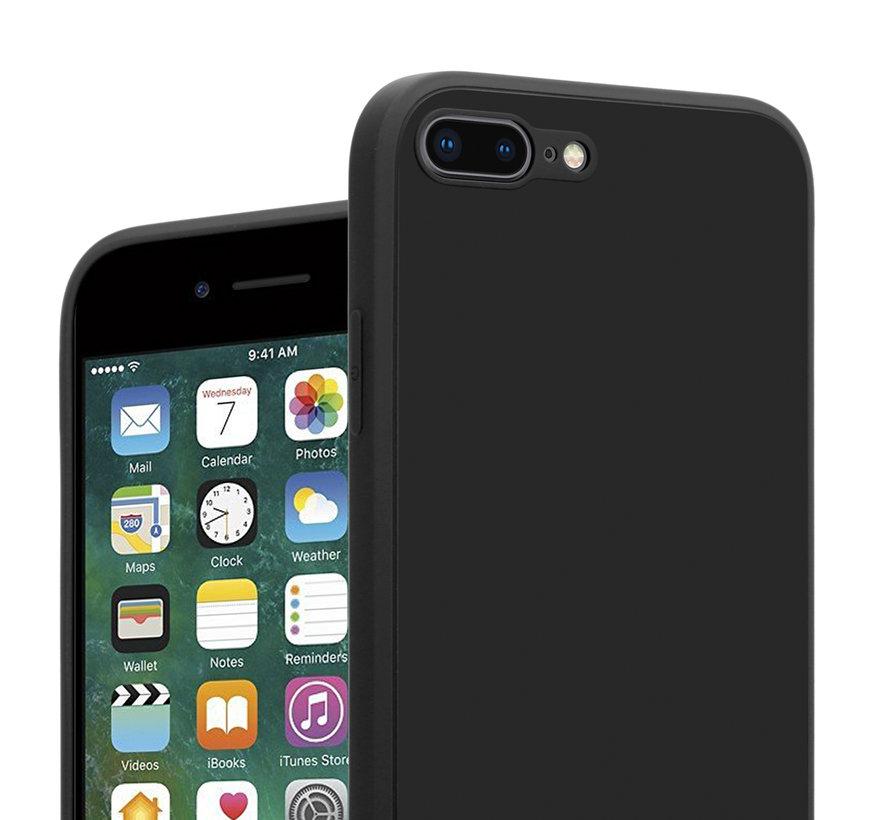 ShieldCase iPhone 7 Plus / 8 Plus vierkante silicone case (zwart)