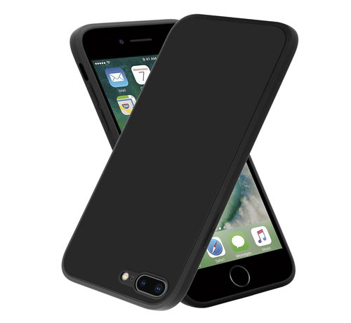 ShieldCase® ShieldCase iPhone 7 Plus / 8 Plus vierkante silicone case (zwart)
