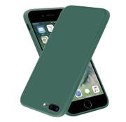 ShieldCase® iPhone 7 Plus / 8 Plus vierkante silicone case (donkergroen)