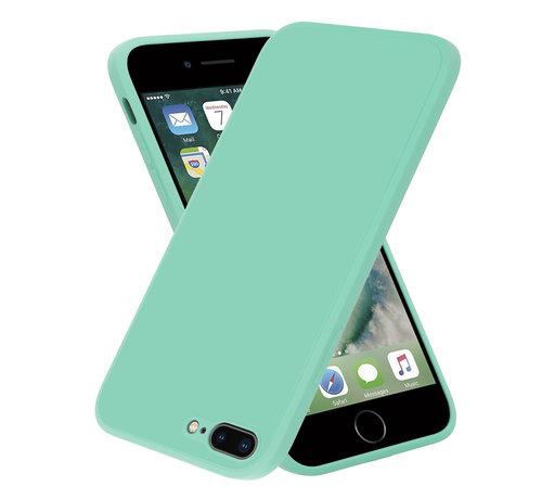 ShieldCase® ShieldCase iPhone 7 Plus / 8 Plus vierkante silicone case (aqua)