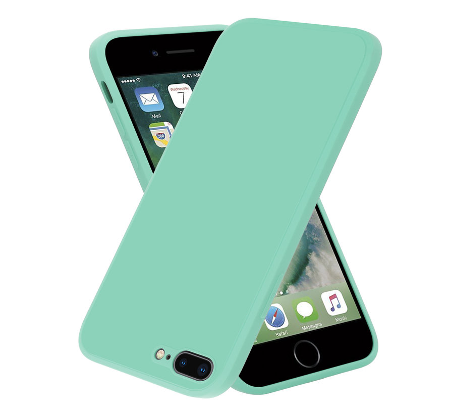 ShieldCase iPhone 7 Plus / 8 Plus vierkante silicone case (aqua)