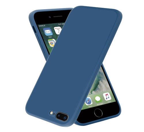 ShieldCase® ShieldCase iPhone 7 Plus / 8 Plus vierkante silicone case (blauw)