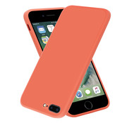 ShieldCase® iPhone 7 Plus / 8 Plus vierkante silicone case (oranje)