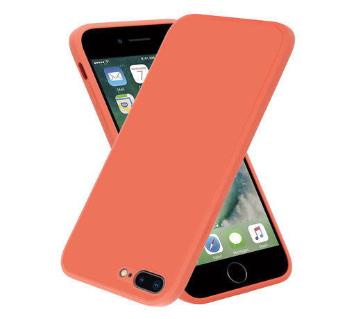 ShieldCase® ShieldCase iPhone 7 Plus / 8 Plus vierkante silicone case (oranje)